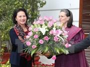 国会主席阮氏金银在印度开展一系列会见活动