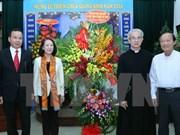 越南中央民运部部长张氏梅向天主教团结委员会致以圣诞节问候