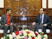 越南国家主席陈大光会见东帝汶驻越南大使
