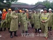 政府副总理郑廷勇视察平定省暴雨洪水应对工作