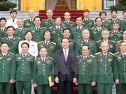 越南国家主席会见作战局历届领导代表