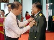 越南北件省援老志愿军和专家荣获老挝国家的勋章