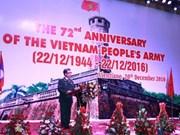 越南人民军建军72周年纪念仪式在老挝举行