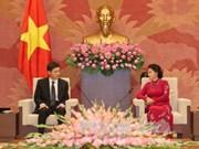 国会主席阮氏金银会见韩国和伊朗驻越大使