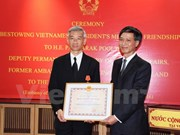 前泰国驻越大使荣获越南友谊勋章