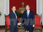 越共中央书记处常务书记丁世兄会见柬埔寨人民党中央办公厅主任