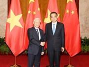 越共中央总书记阮富仲会见中国国务院总理李克强