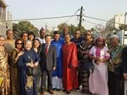 越南驻塞内加尔大使馆向旅塞越南人拜年