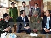 越南国家主席陈大光赴海防市给公安和海军战士拜年