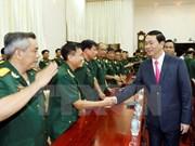 陈大光主席春节前看望慰问第九军区武装力量