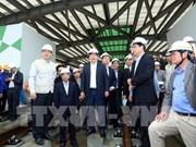 郑廷勇副总理视察河内城市铁路线施工情况