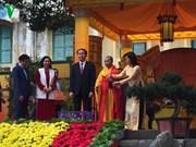 国家主席陈大光在升龙皇城遗迹区上香