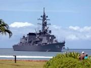 日本3艘军舰访问柬埔寨
