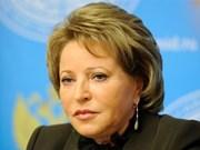 俄罗斯联邦委员会主席对越南进行正式访问