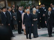 日本天皇与皇后会见JICA驻越志愿者