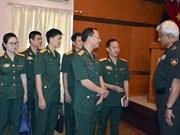 越南青年军官代表团访问印度