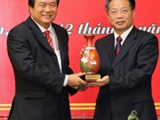 中国广西百色市代表团访问越南隆安省