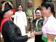 国会主席阮氏金银在奠边省西庄国际口岸调研