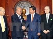越南胡志明市领导会见日越友好议员联盟特别顾问