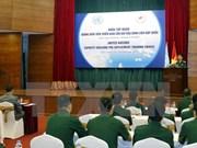 越南国防部领导会见荷兰国防部工作代表团