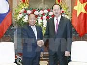 越南国家主席陈大光会见老挝安全部部长