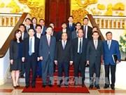 越南政府总理阮春福会见韩国外长尹炳世