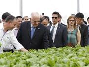 以色列总统参观访问越南永福省三岛VinEco高新技术农业应用投资项目