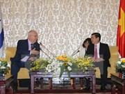 以色列总统鲁文·里夫林访问胡志明市
