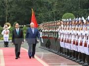 以色列总统鲁文·里夫林与夫人圆满结束对越的国事访问