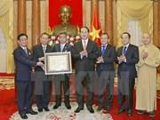 陈大光主席会见旅居泰国越侨和安南宗佛教代表