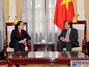 越南副外长阮国勇会见中国驻岘港市总领事和菲副外长