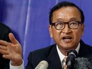 柬埔寨反对党救国党前主席桑兰西被判处1年和8个月监禁