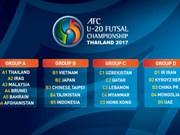 2017年亚洲U20五人制足球锦标赛:越南队将对阵日本队