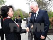 越南国会主席阮氏金银会见匈牙利国会副主席伊什特万•雅各布