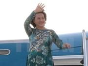 越南国会主席阮氏金银对捷克进行正式访问