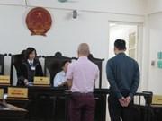 两名日本人因走私黄金分别被河内判处10年和8年有期徒刑