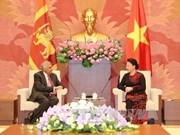 越南国会主席阮氏金银会见斯里兰卡总理拉尼尔·维克勒马辛哈