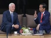 美国副总统迈克尔·彭斯对印度尼西亚进行访问