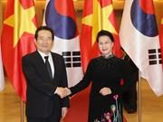 越南国会主席阮氏金银同韩国国会议长丁世均举行会谈