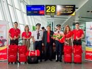 越捷航空公司正式开通河内至新加坡直达航线