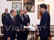 黎巴嫩总统希望进一步促进与越南的良好合作关系