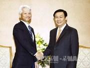 政府副总理王廷惠会见日本三井住友银行亚太地区总裁Ryuji Nishisaki