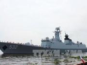 中国海军舰艇编队访问越南胡志明市