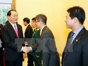 越南国家主席陈大光探访越南驻华大使馆
