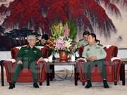 越南国防部副部长阮志咏会见中共中央军事委员会副主席范长龙上将