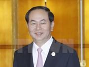 国家主席陈大光与各国领导进行双边会晤