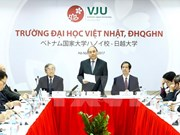 阮春福总理走访参观越日大学