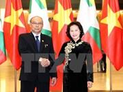 缅甸议会上院议长圆满结束对越南的正式访问