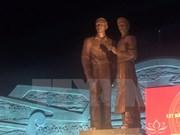 阮生色和阮必成塑像在平定省正式落成