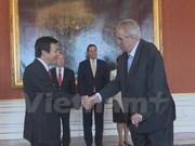 捷克总统高度评价越南与捷克在多方面的传统友好合作关系